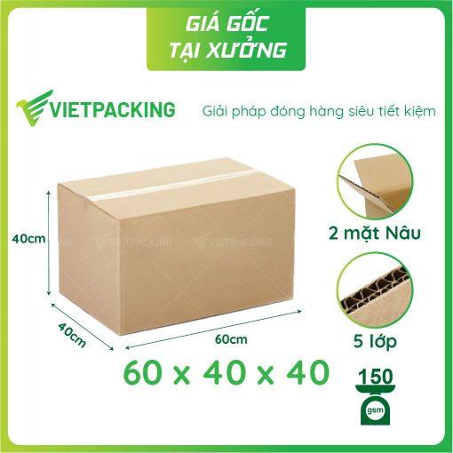 60x40x40 thùng carton lớn chuyển nhà
