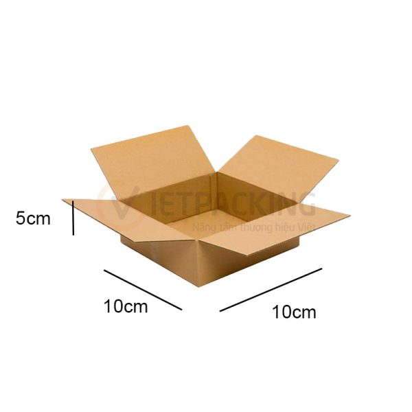 Hộp carton 10x10x5cm 1