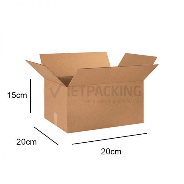 Hộp carton 20x20x15cm 1
