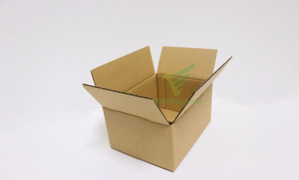 Hộp carton 20x15x10 mặt màu nâu, chuyên đóng hàng cod