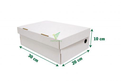 hop carton dung giay 30 20 10 02 scaled Hộp carton đựng giày 30x20x10cm