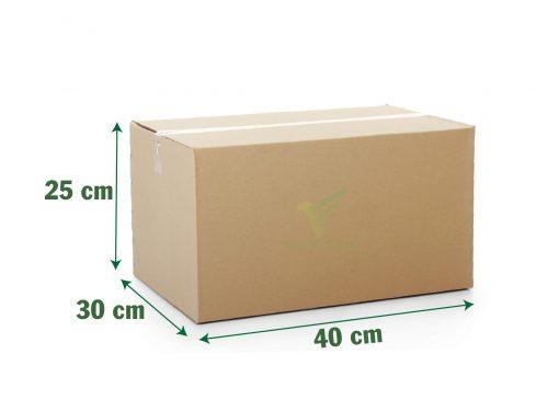thùng carton 40x30x25 cm