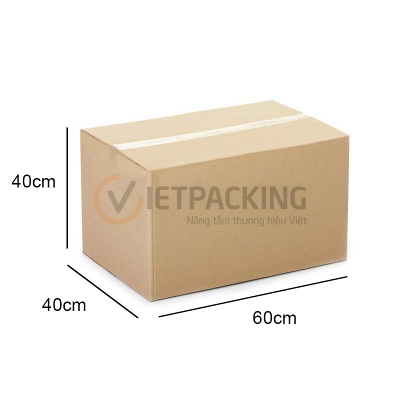 """thung carton 60x40x40cm min Mua thùng carton đi máy bay """"đúng chuẩn"""" chuyển hàng quốc tế ở đâu?"""