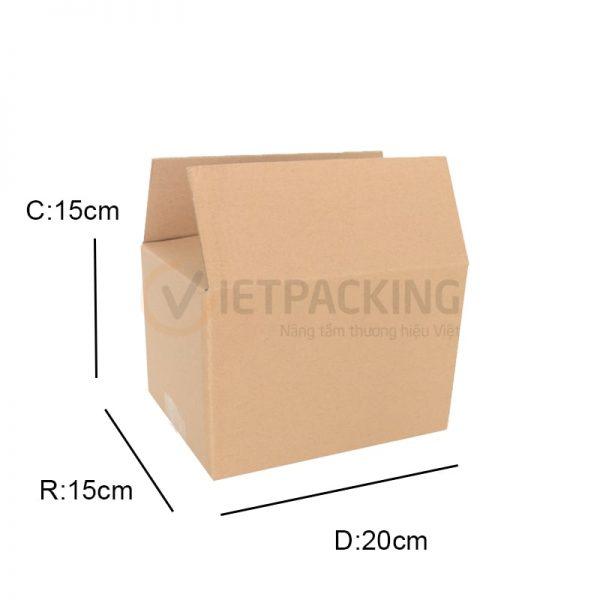Hộp carton 20x15x15cm 1