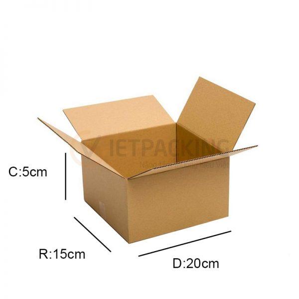 Hộp carton 20x15x5cm 1