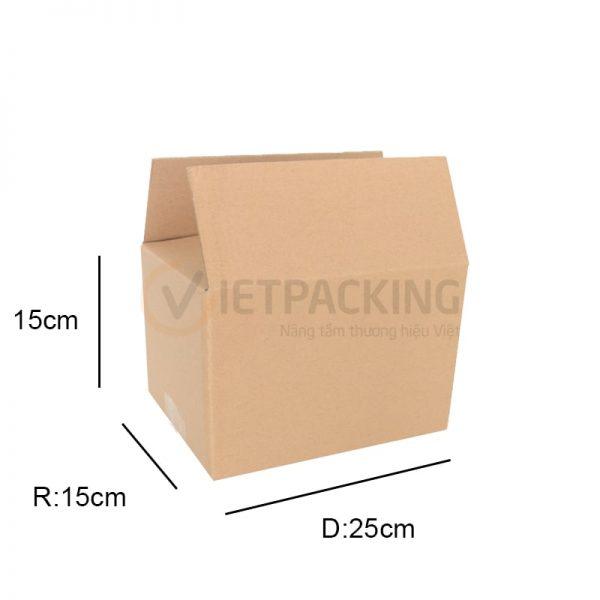 Hộp carton 25x15x15cm 1