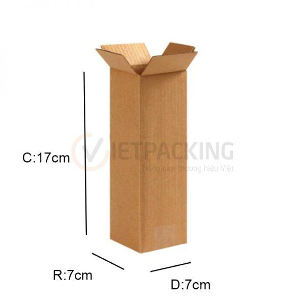 Hộp carton 7x7x17cm 1