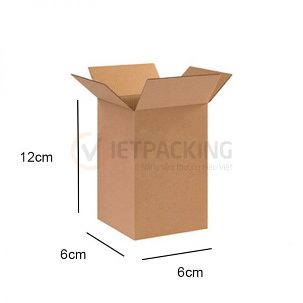 Hộp carton 6x6x12cm 1