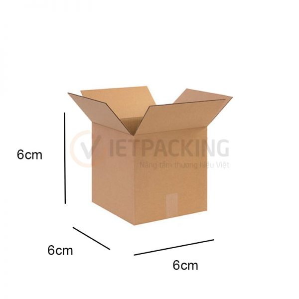 Hộp carton 6x6x6cm 1