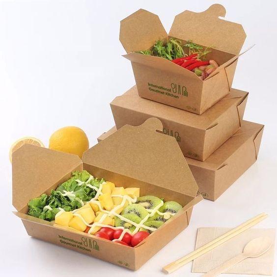 Hộp giấy kraft đựng thức ăn - nhẹ, tiện lợi, dễ dùng, tại sao không? 1