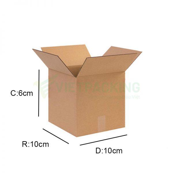 Hộp carton 10x10x6cm 1