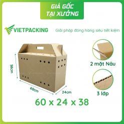 60x24x38 thùng carton đựng gà