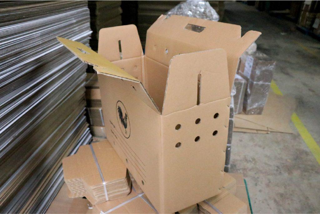 thung carton dung ga 60 24 38 05 Thùng carton đựng gà 60x24x38cm