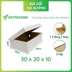 30x20x10 hộp carton đựng giày