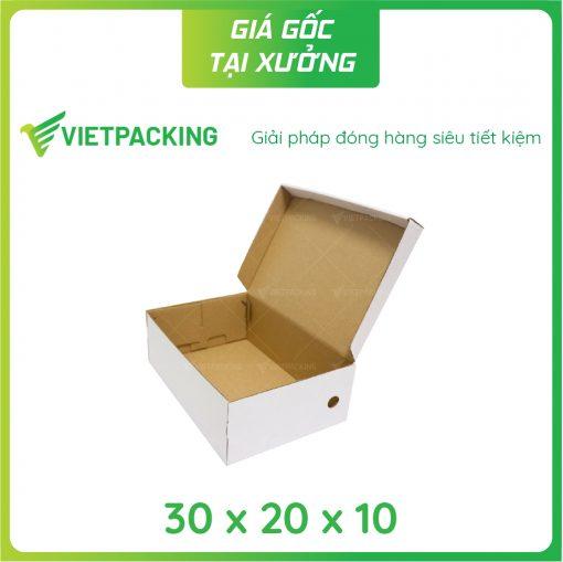 30x20x10 hộp carton đựng giày 2
