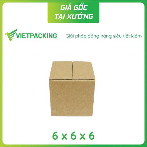 6x6x6 hộp carton vuông nhỏ