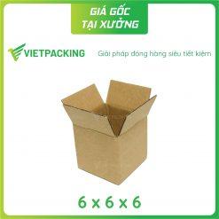 6x6x6 hộp carton vuông nhỏ 2