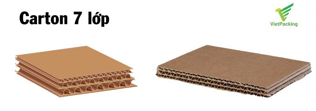 mô tả hình ảnh cấu tạo carton 7 lớp