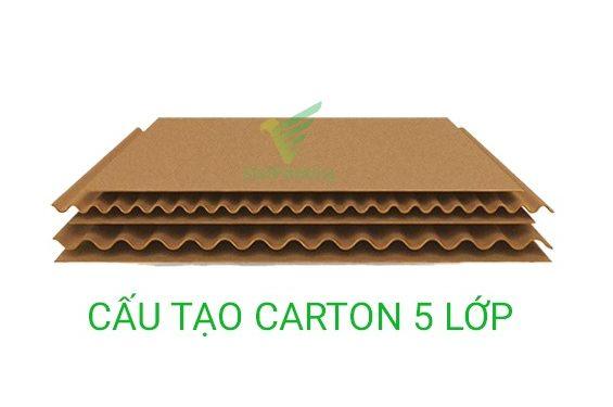 hình ảnh mô tả cấu tạo carton 5 lớp