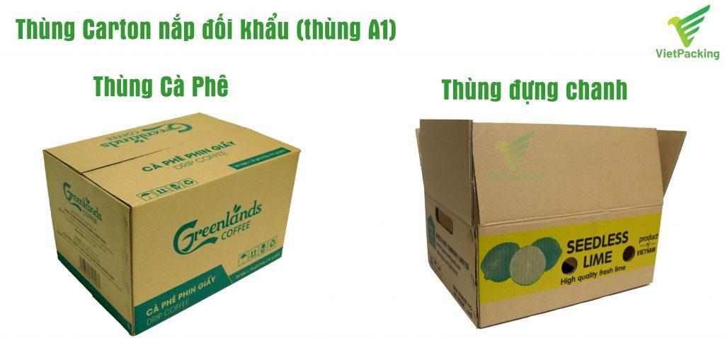 Thùng carton nắp đối khẩu (thùng A1) in ấn quảng bá thương hiệu