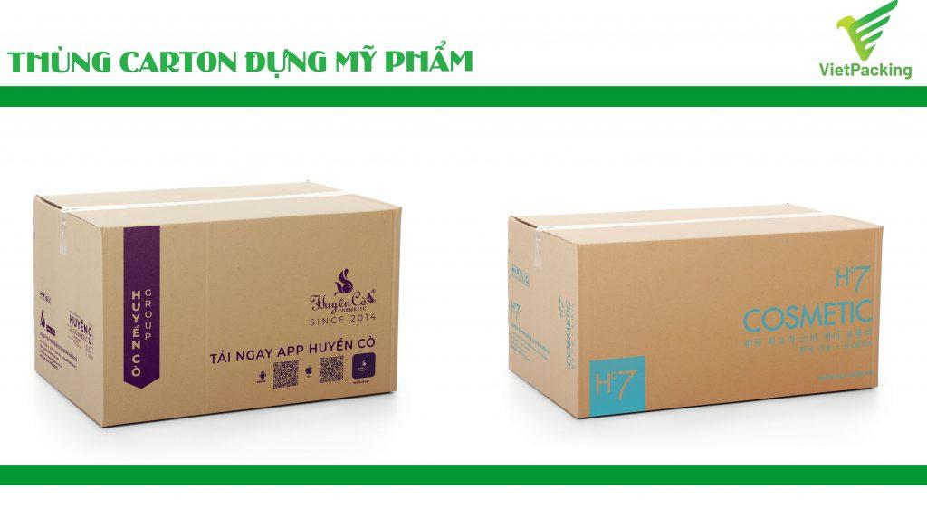 Thùng carton đựng mỹ phẩm, tiết kiệm chi phí tăng doanh số bán hàng