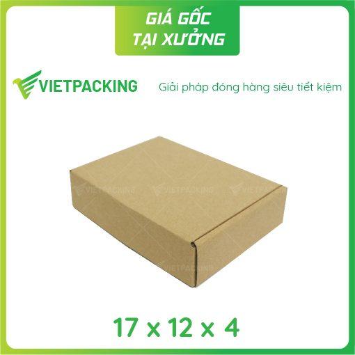 17x12x4 hộp carton nắp gài 2