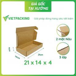 21x14x4 hộp carton nắp gài