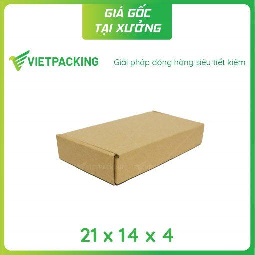 21x14x4 hộp carton nắp gài 2