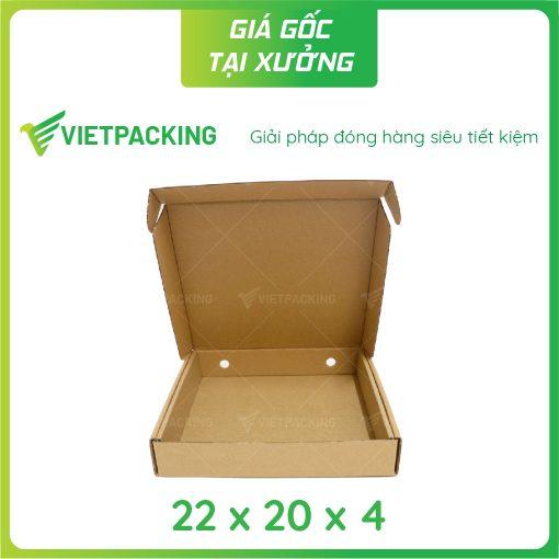 22x20x4 hộp carton nắp gài hông 2