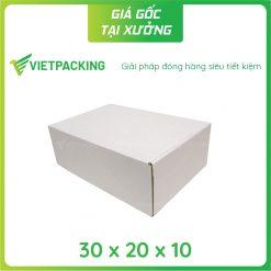 30x20x10 hộp carton nắp gài trắng 2
