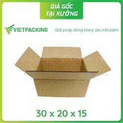 30x20x15 hộp carton 2 mặt nâu 2