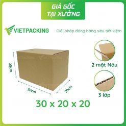 30x20x20 hop carton 1
