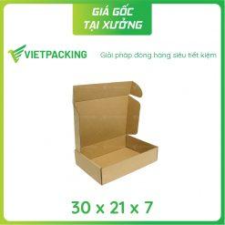 30x21x7 hộp carton nắp gài 2