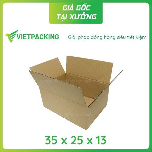 35x25x13 hộp carton 2 mặt nâu 2