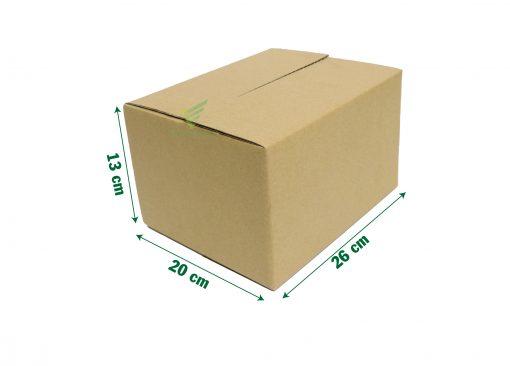 hop carton 26 20 13 11 scaled Hộp carton 26x20x13cm