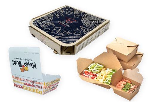 Sản xuất bao bì giấy thực phẩm thức ăn nhanh