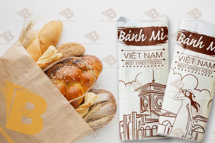 in bao bì giấy bánh mì.