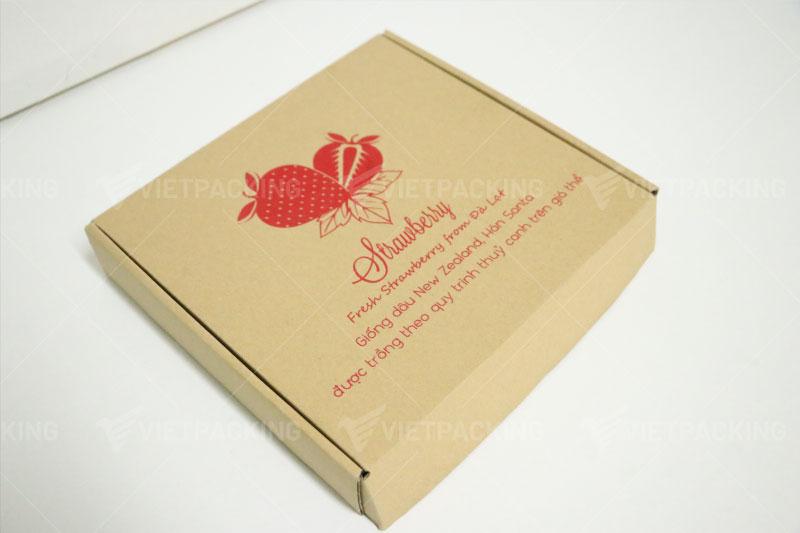 Hộp carton đựng dâu tây