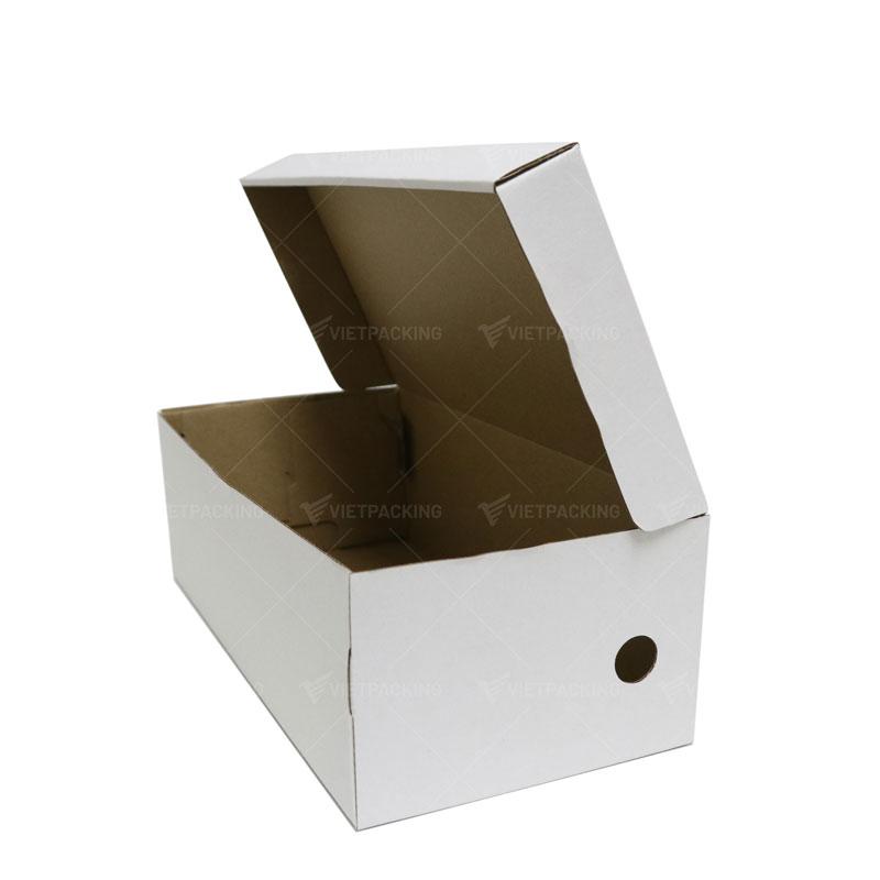 Hộp carton đựng giày màu trắng