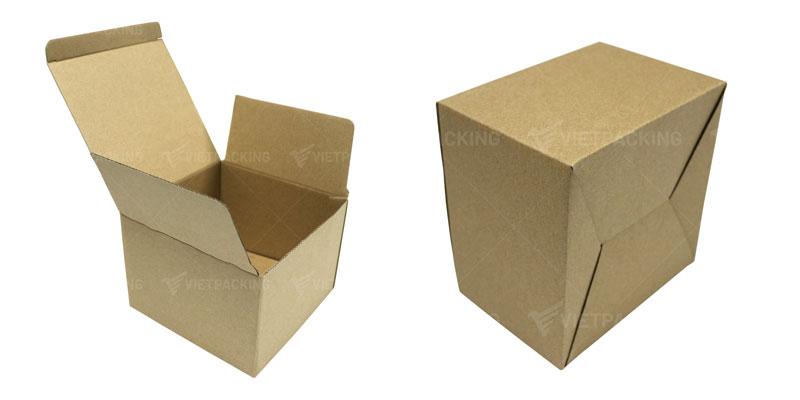 hộp carton nắp gài khóa đáy